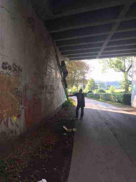 Aktion Omega Brücke Witten