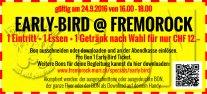Bon für Early Bird @ Fremorock Muri 2016