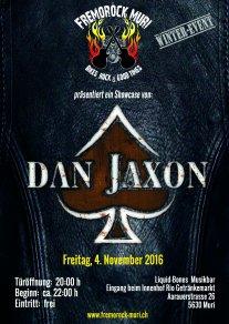 Flyer Dan Jaxon 4. November 2016