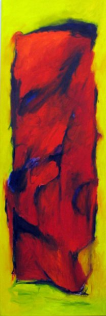 To be still in the inner room  150x50 cm / Oel