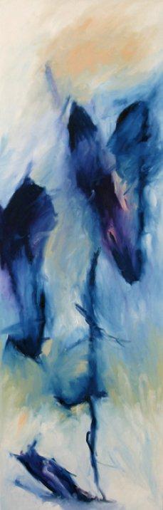 Blaue Komposition 150x50 cm / Acrylic / Private property