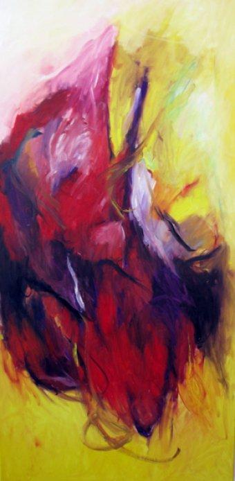 Geboren 150x75 cm / Acryl