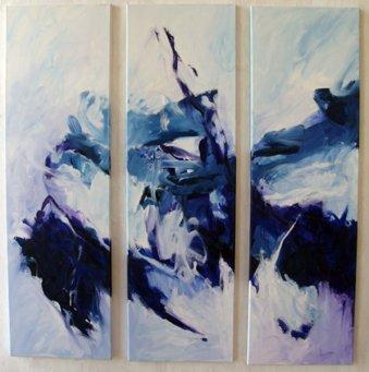 Triptychon 100x30x3 cm / Acrylic