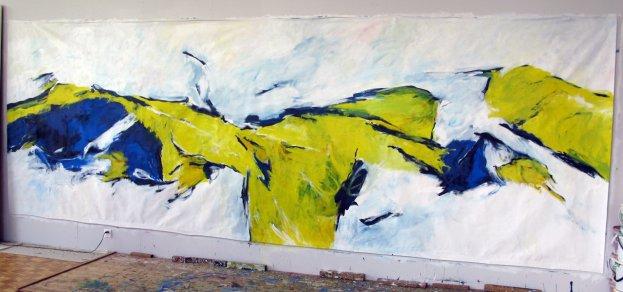 Weite Horizonte 200x600 cm / Acryl