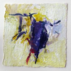 Acrylic on Hand-made paper / 10x10 cm