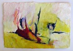 Acrylique sur papier à la main /20x30 cm