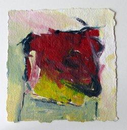 Acrylique sur papier à la main /15x15 cm