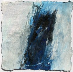 Acrylic on Hand-made paper / 15x15 cm