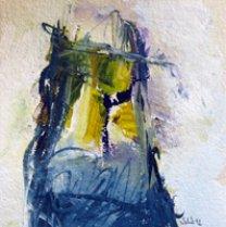 Acryl auf Büttenpapier /15x15 cm