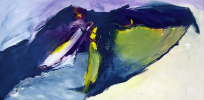 Deep in to the night Inspired by Hiromi  50x100 cm / Acrylique