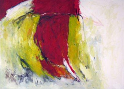 Feuerregen 100x140 cm / Acryl