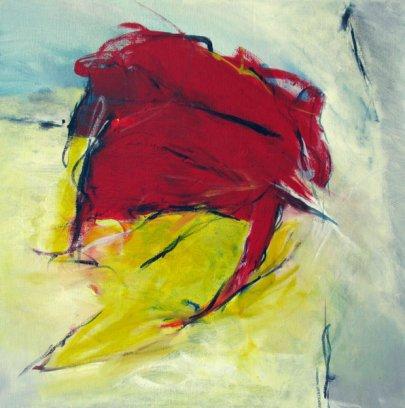 Wisch und weg 64x64 cm / Acryl