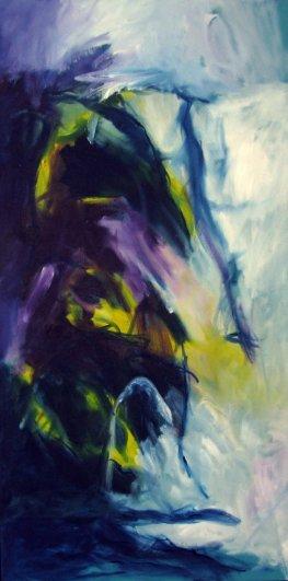 Footprints Inspired by Miles Davis 100x50 cm/ Oil