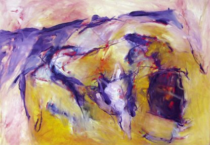 Father of day father of night Inspired by Manfred Mann's Earthband 70x100 cm / Oel