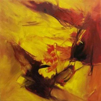 """Le soir"" Symphonie Nr. 8 G-Dur von J. Haydn 50x50 cm / Oel"