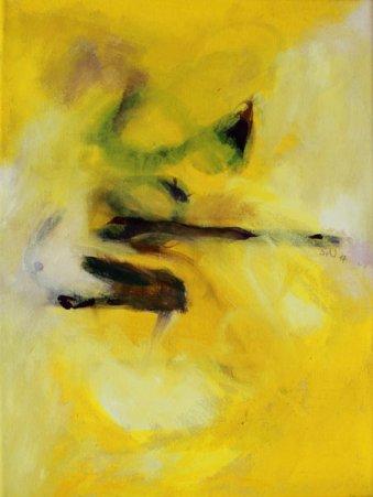 Alina / Inspiré par Arvo Pärt / 40x30 cm / Huile