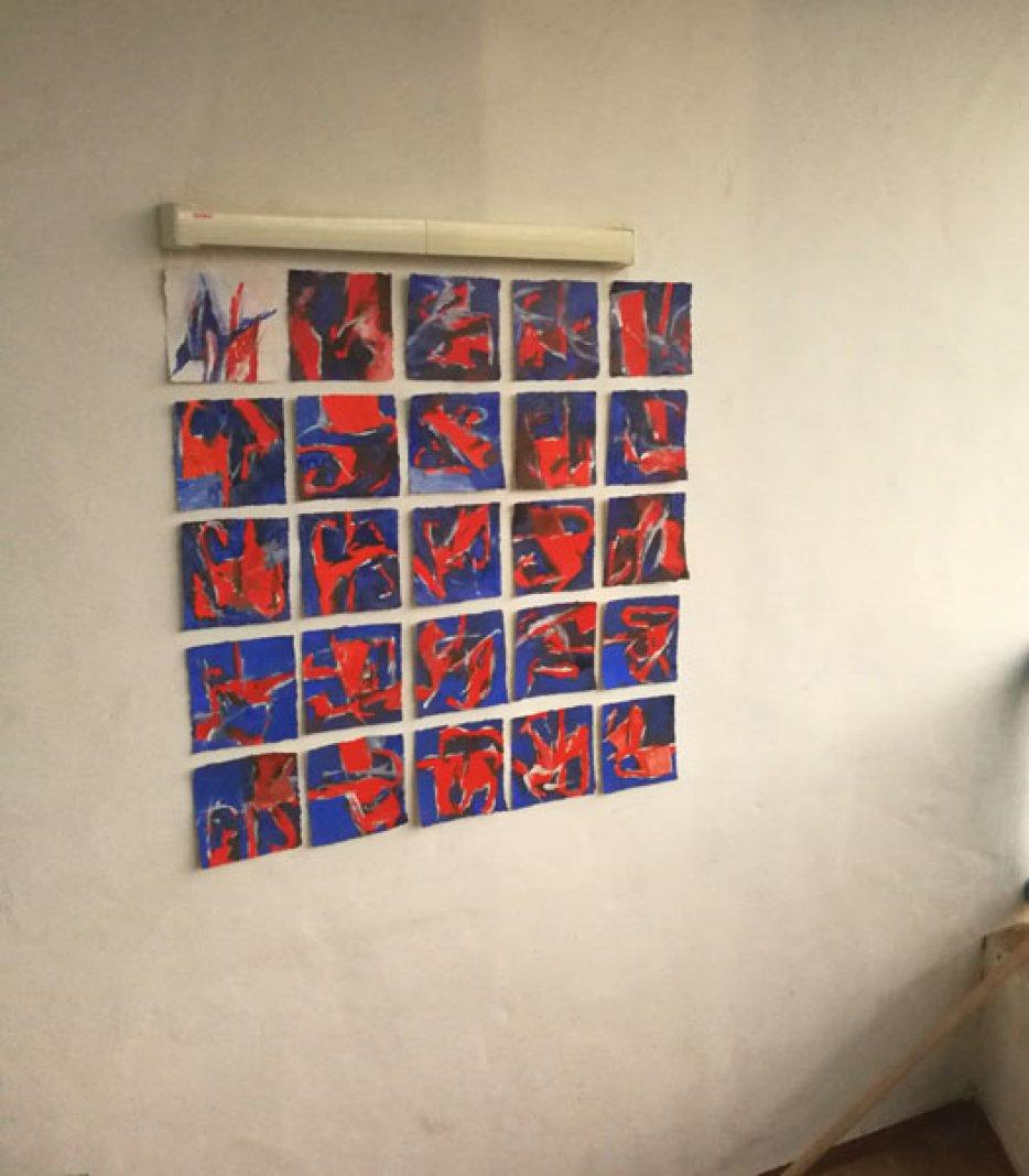Da Pacem / Inspiriert durch Arvo Pärt / 25x15x15 cm / Oel auf Bütten