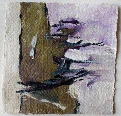 Inspiré par Ketil Bjornstad / No man is a IIand / 15x15 cm / Acrylique
