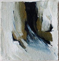 Inspiriert von Arvo Pärt / Alleluja Tropus Beatus Petronius / 15x15 cm / Acryl