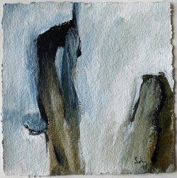 Inspiriert von Arvo Pärt / Alleluja Tropus Salve Regina / 15x15 cm / Acryl