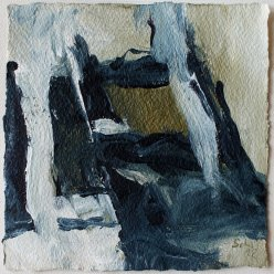 Inspired by Susanne Abbuehl / In the dark Pine Wood / 15x15 cm / Acrylic