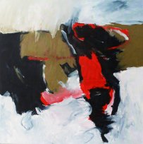 Inspiré par Santana / Tales of Kilimanjaro / 100x100 cm / Acrylique