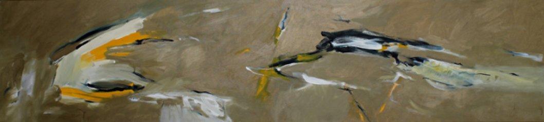 Inspiriert von Fleetwod Mac / Goodbye Angel / 45x200 cm / Acryl