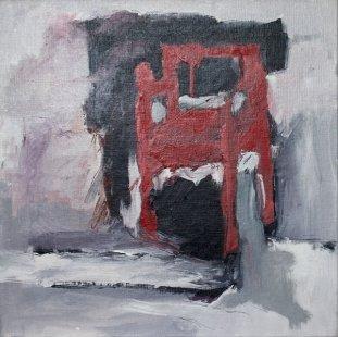 Stuhl  Nr. 4 / 64x64 cm / Acryl