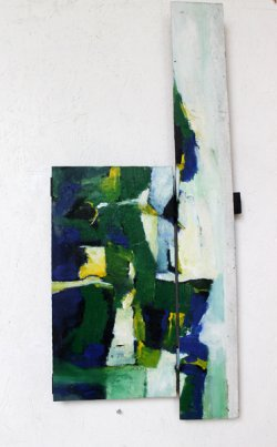Morgens/ 60x38 cm / Acryl auf Holz