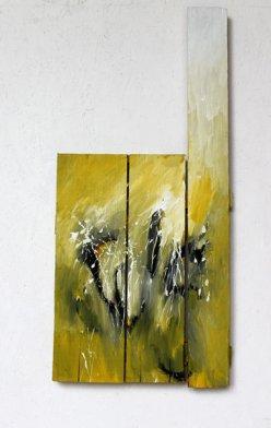 éclairé / 95x43 cm / Acrylique sur bois
