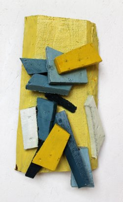 Penne alla Gorgonzola / 44x25 cm / Acryl auf Holz