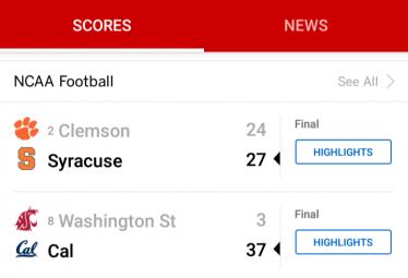 College Football Sportwetten Ergebnisse