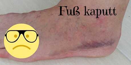 Umgeknickt linker Fuß kaputt