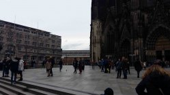 Hauptbahnhof Blick von Domplatte