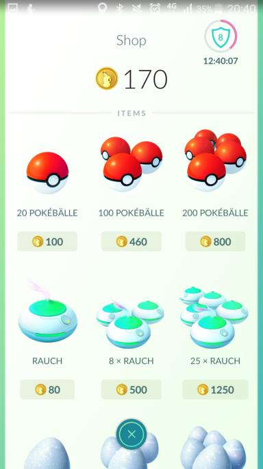 8 Pokemon Münzen abholen