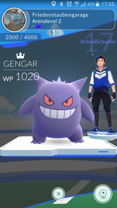 Pokemon Go Arena gewinnen