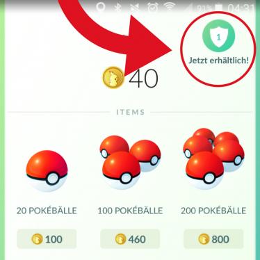 Pokemon Go Münzen erhältlich