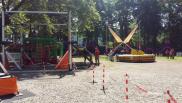 Sparkassen Renntag Ausblick Kinderspielbereich