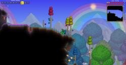 Terraria Screenshot Spielszene Einhorn
