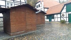 Weihnachtliches Barendorf geschlossene Hütte