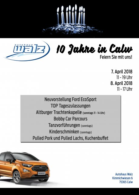 10 Jahre Autohaus Walz Calw - Kimmich Open