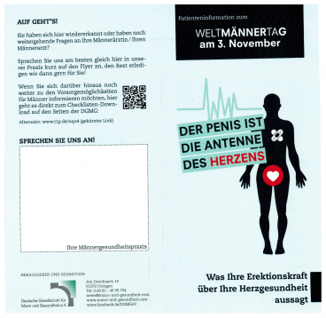 Welt Männertag Patienteninformation Flyer