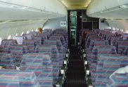 The cabin of Dan-Air's BAe 146-300