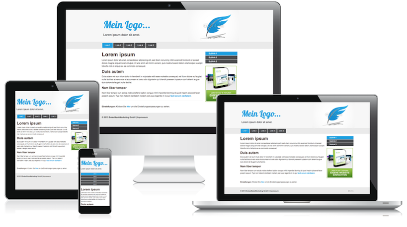 """Lassen Sie uns Ihre Homepage erstellen - günstig und mit """"responsive"""" Design"""