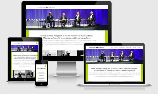 Wordpress Webdesign für Business Fotografie in Zürich