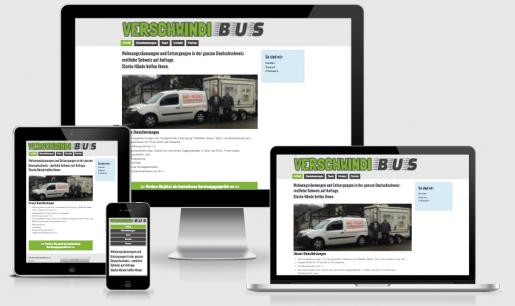 Webdesign Referenz Verschwindibus.ch