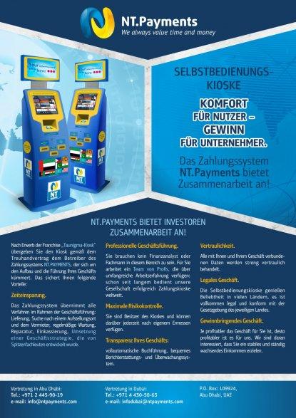 Passives Einkommen aufbauen mit NT.Payments - Aufstellorte der Terminals TauNigma Kiosk