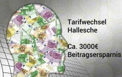 PKV-Tarifwechsel Hallesche - 3000 euro gespart durch Hallesche-Tarifwechsel