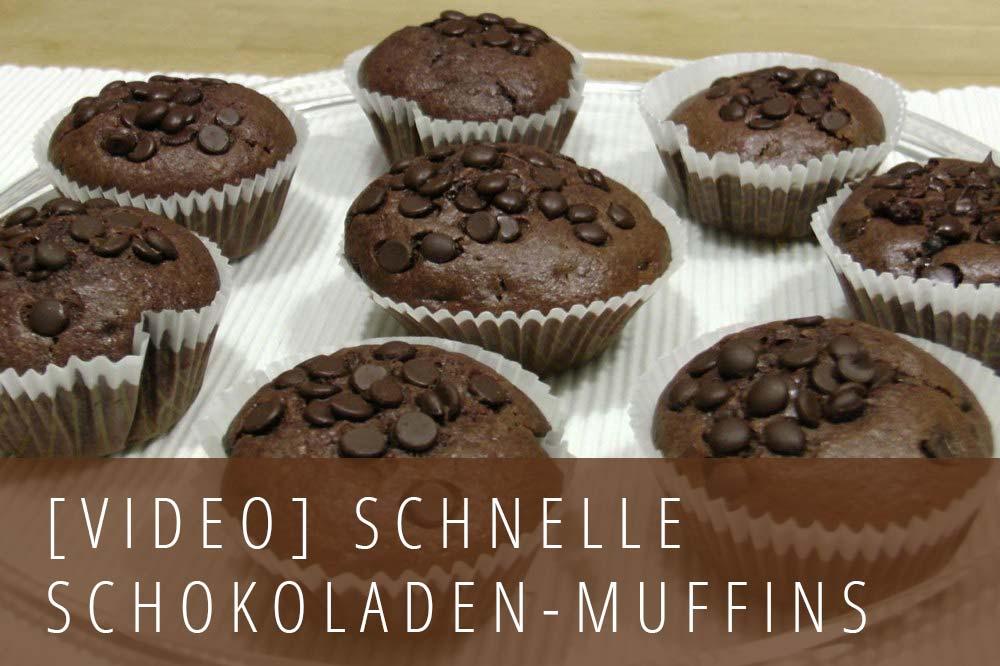 Video-Rezept Schnelle Schokoladenmuffins