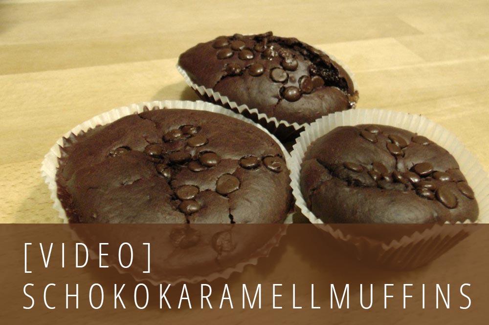 Schoko Karamell Muffins
